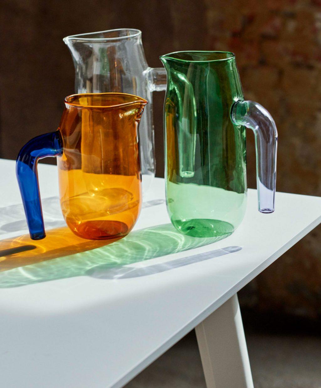 ガラス作家 Jochen HolzがHAYのためにデザインしたジャグ。美しいカラーリング♡