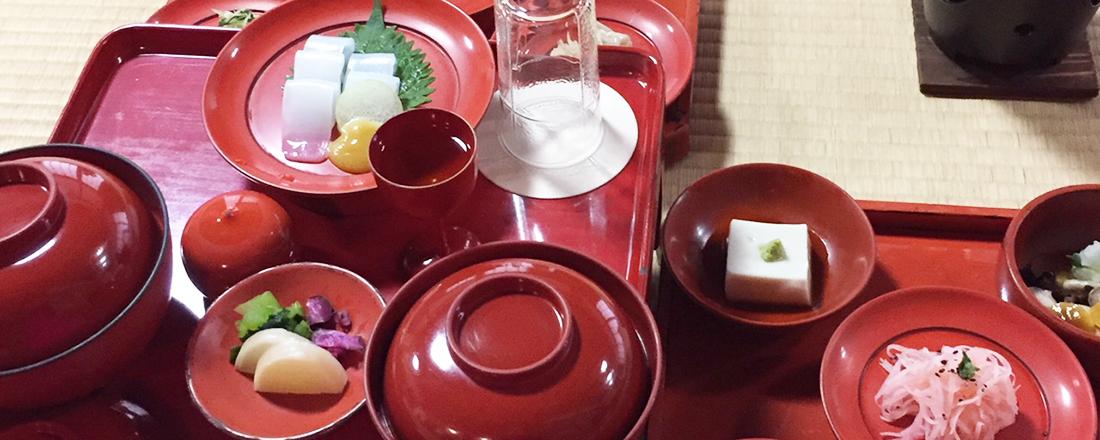 """日本庭園を眺めながらの精進料理。~テレビ東京の""""ちょっとおいしい""""話第4回~"""