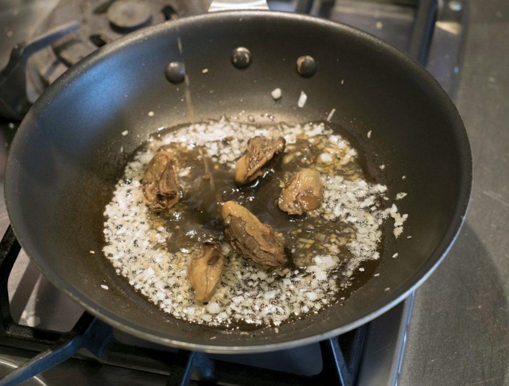 牡蠣の山椒漬け