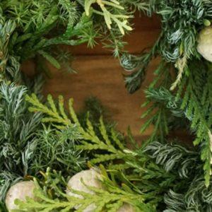 クリスマスにおすすめ!簡単「森のリース」の作り方。