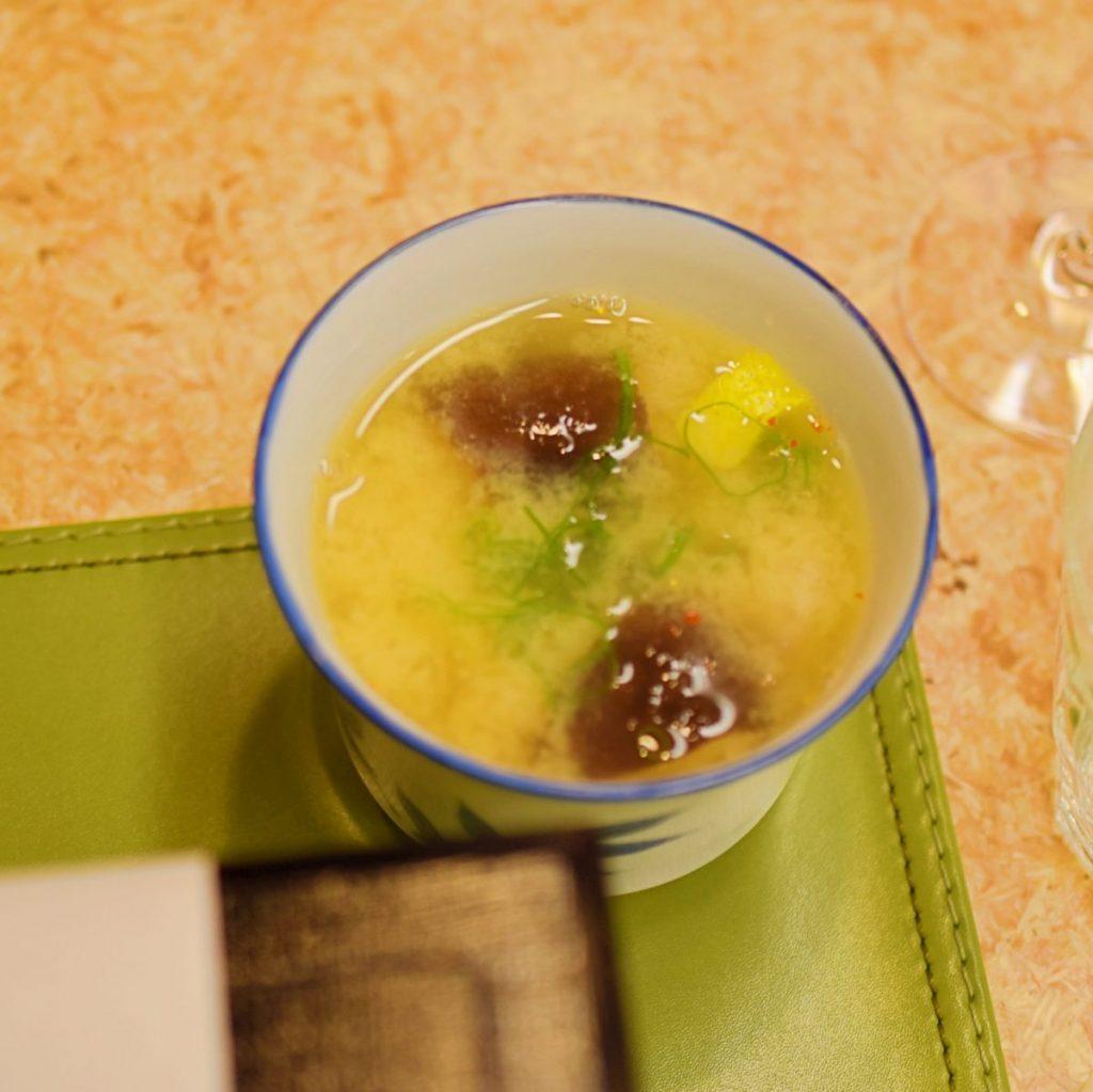 味噌仕立てのシーフード味噌スープ