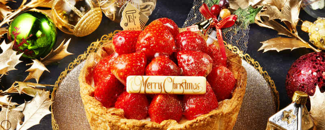たっぷりいちごのクリスマスチーズタルト