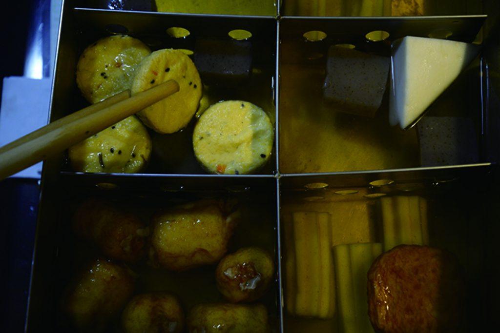 大根、ワカメ、ちくわぶ、ハンペン、高野豆腐各150円
