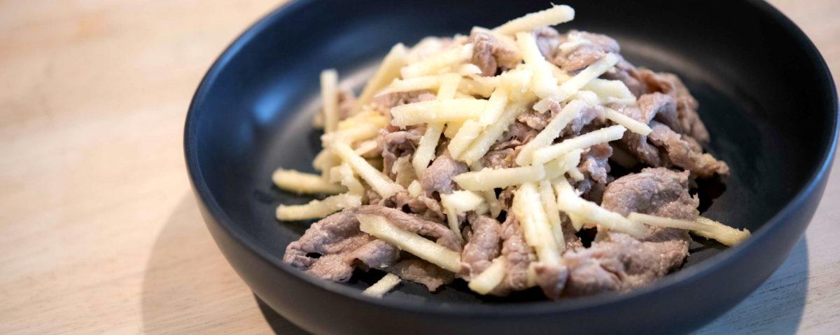 北海道の「山わさび」、知っていますか?さわやかな辛味が、お肉との相性がばっちりなんです。