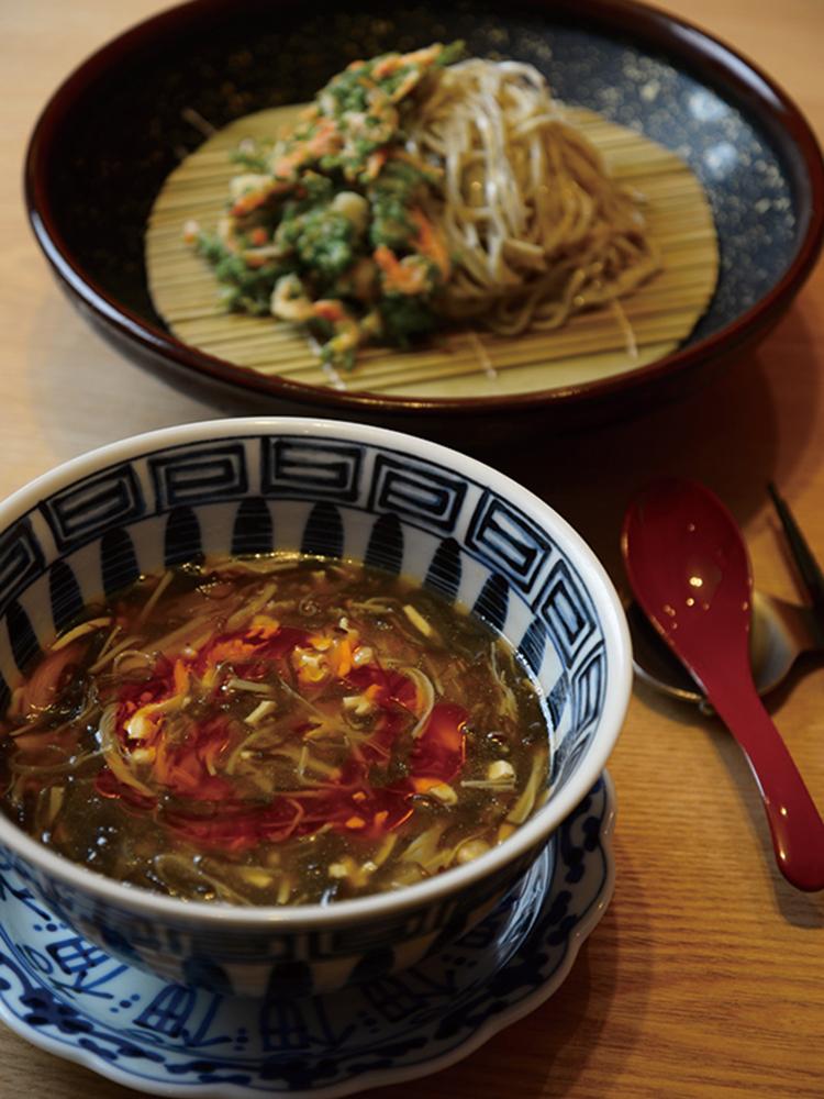 もずくと霧島黒酢のサンラーつけ麺1,400円