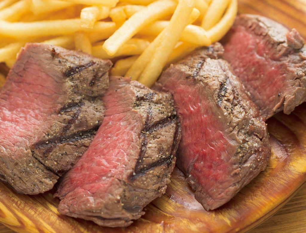 「山口県産 無角牛カタサンカクのステーキフリット」きわめて希少な牛のきわめて希少な部位。