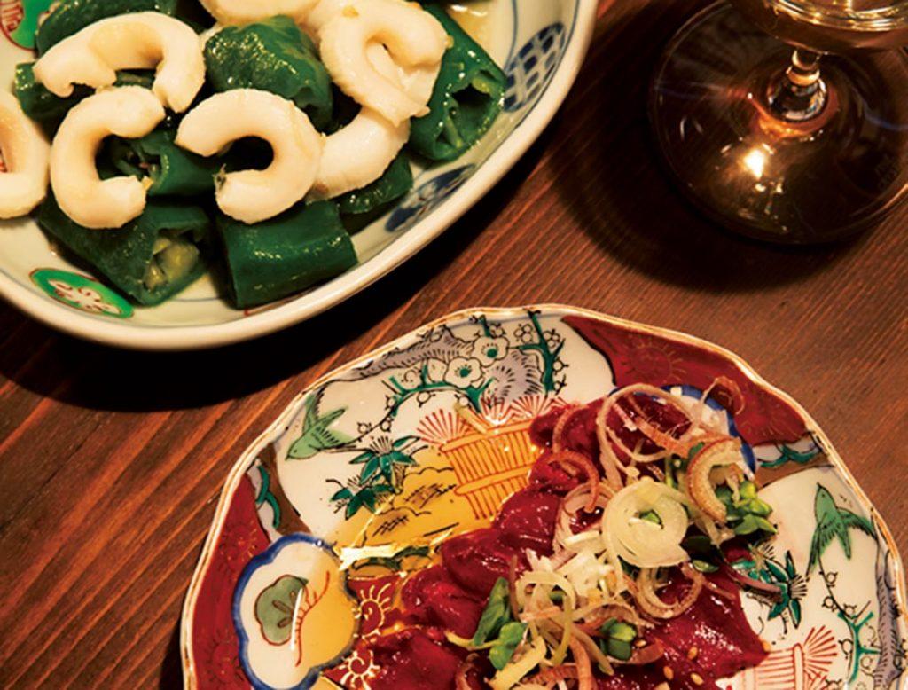 旬の間引き大根や「鮫の心臓」1,000円など、知られざる食材を料理に昇華させることでも定評。