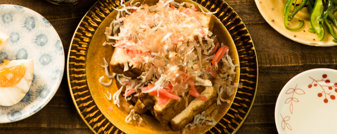 """日本酒に合う""""和""""のおつまみ。「じゃこがけ厚揚げ焼き」の簡単レシピ"""