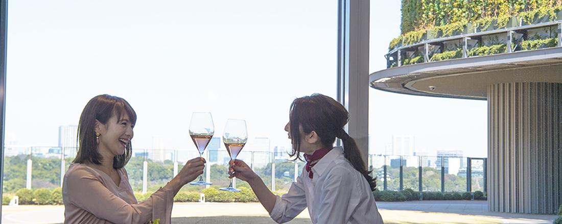 〈東京ミッドタウン日比谷〉癒しの展望台「パークビューガーデン」で、テイクアウト&レストランを堪能!