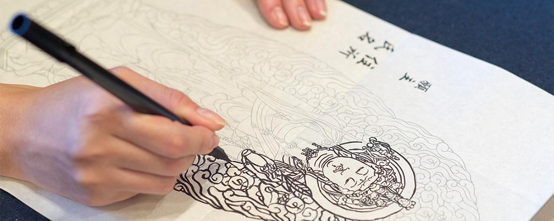 絵を描くのが好きなら絶対ハマる!プチ修行【写仏・墨絵】ができるお寺。