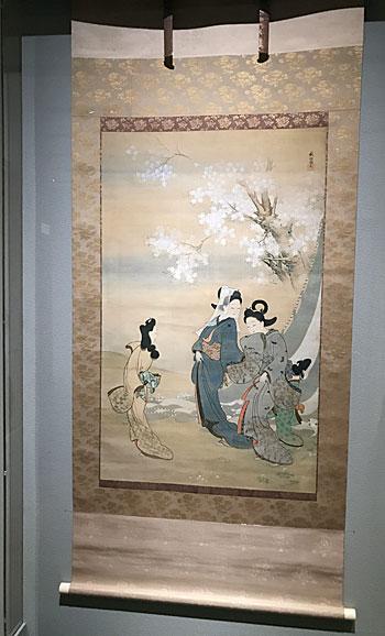 菱田春草《桜下美人図》(山種美術館)
