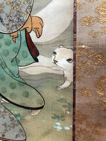 菱田春草《桜下美人図》(部分)(山種美術館)