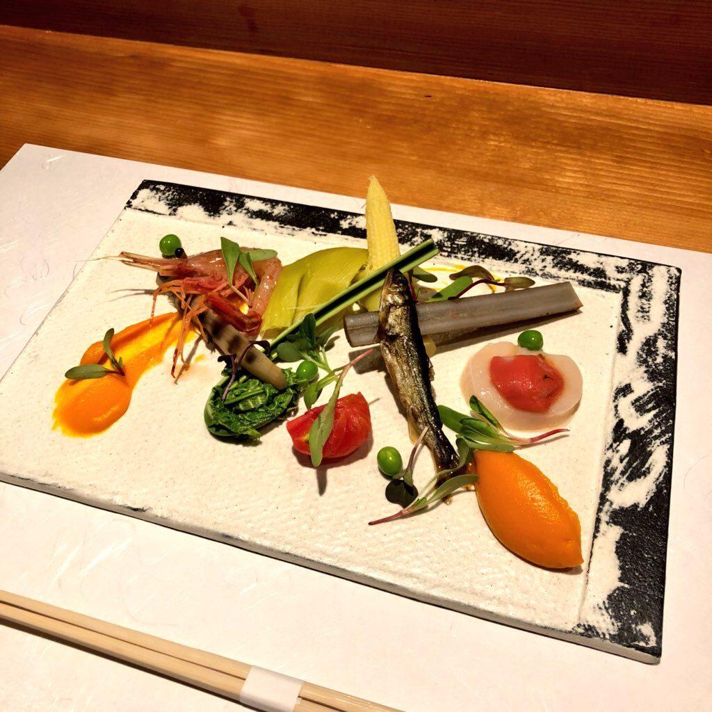 旬野菜の前菜と海鮮前菜