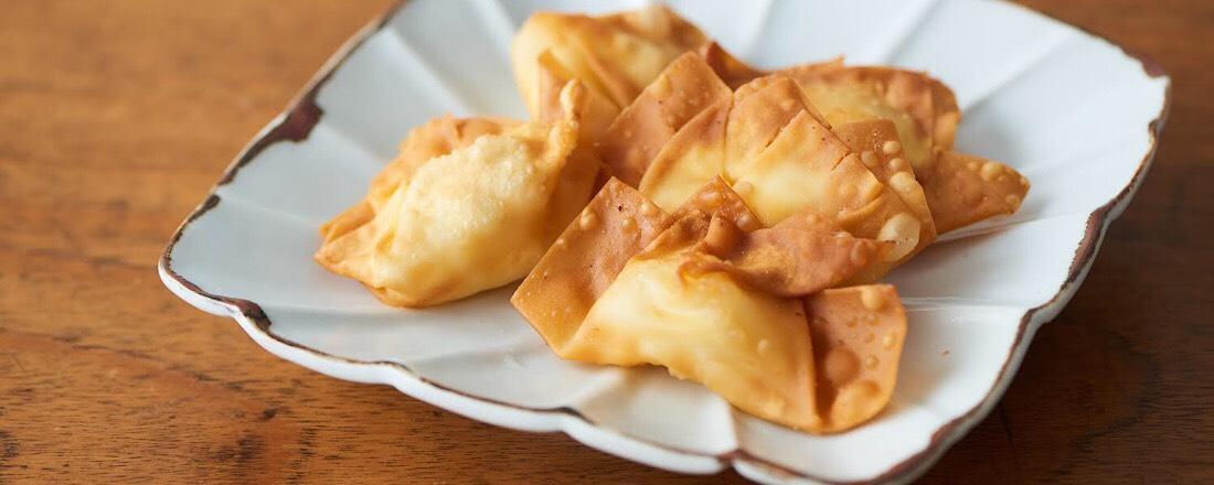 【山口県・甘酢白たくあん】自然発酵のたくあんを、揚げワンタンの上質アクセントに!