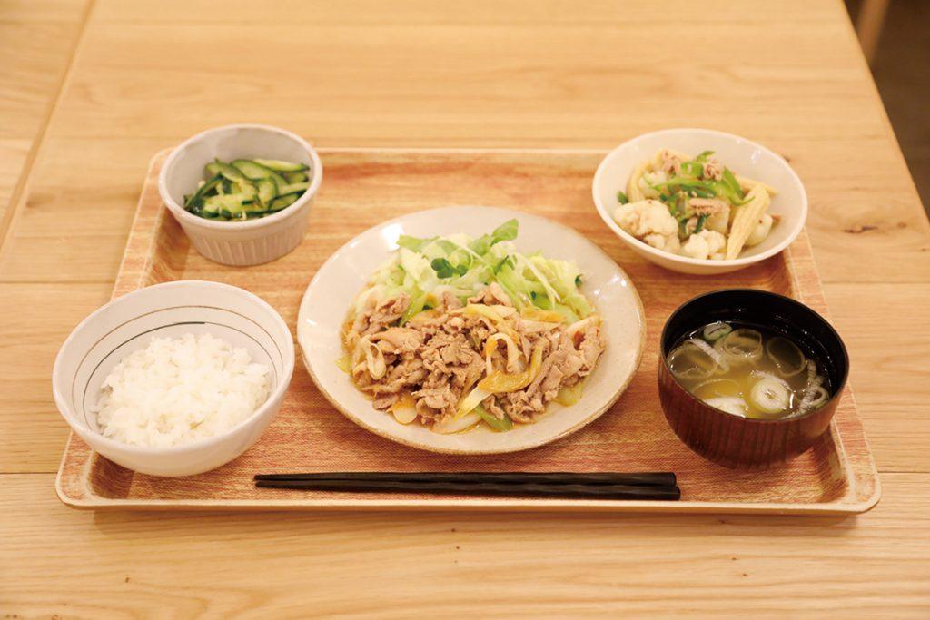 日替わり定食「韓国風焼肉定食」