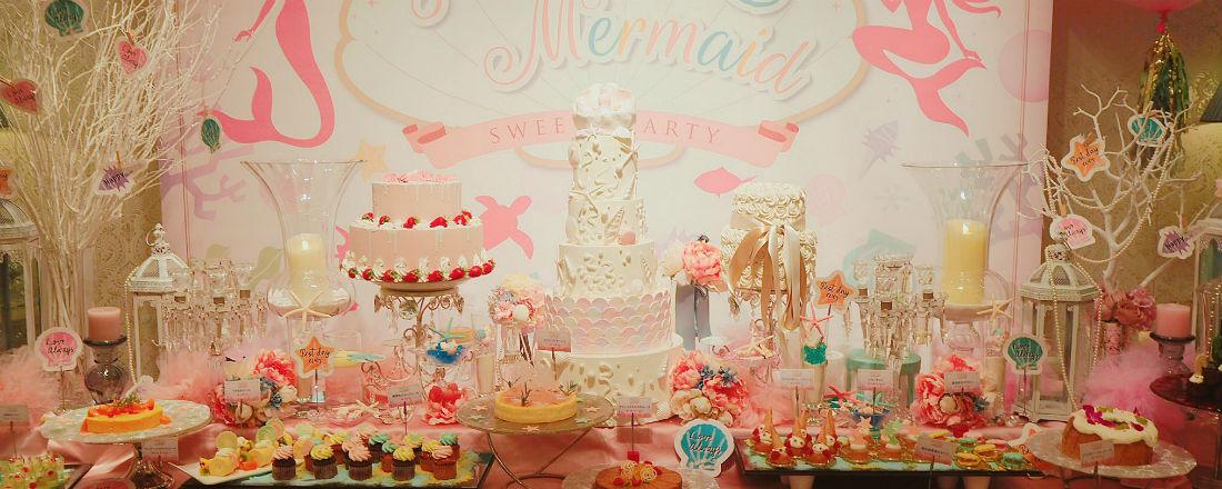 マーメイドがテーマのスイーツブッフェ『プリンセス・マーメイドのスイーツパーティー』が、表参道〈VINO BUONO〉で開催中!