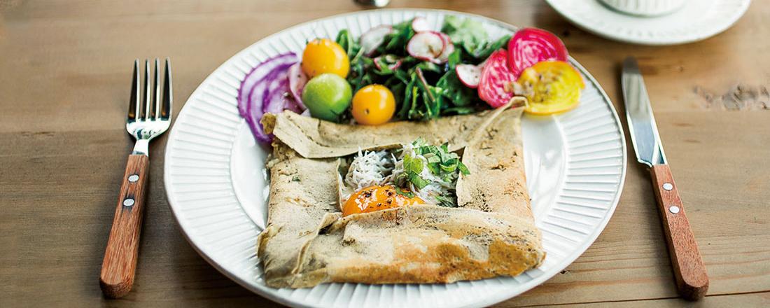 新鮮野菜たっぷり!人気観光スポット、鎌倉・軽井沢でおしゃれガレット朝食。