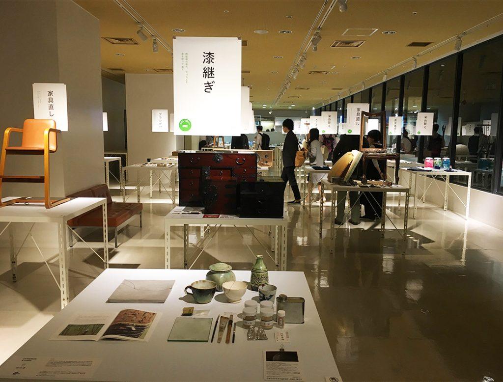 テーブルごとに都道府県別の修理や手入れにまつわる道具や技術を紹介。