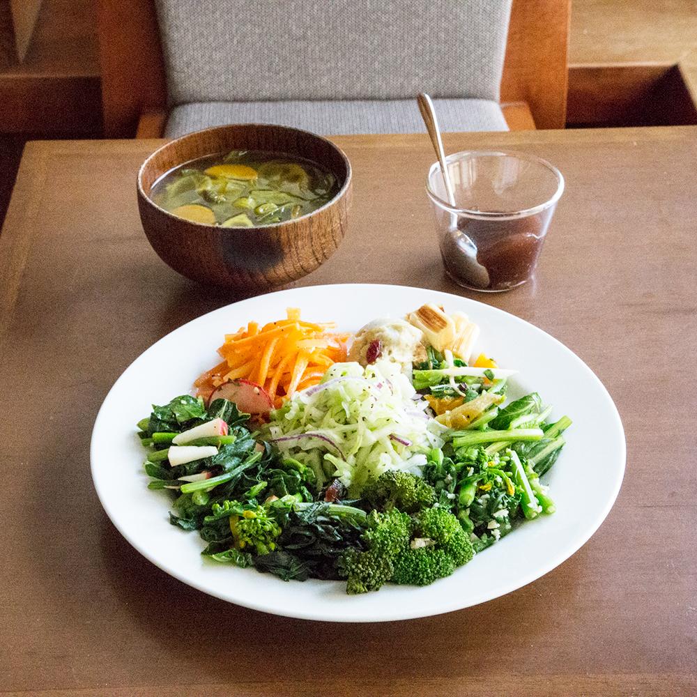 月火限定、mimo's お野菜定食1,400円