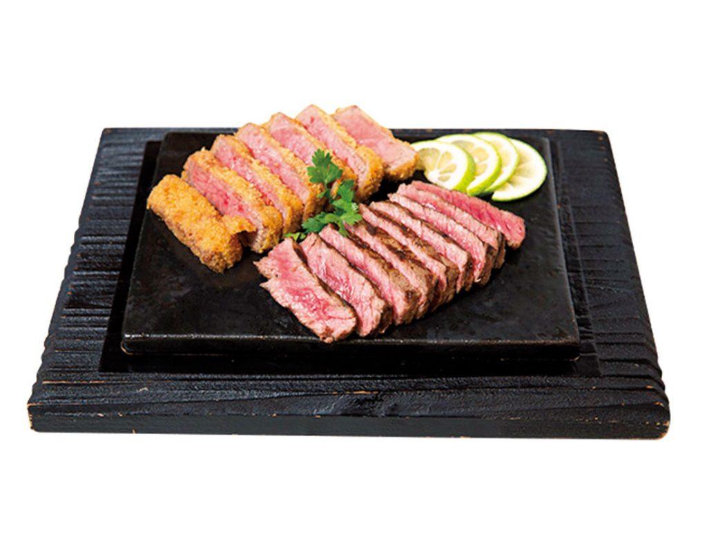 「みなせ牛のステーキとカツレツ」2,560円