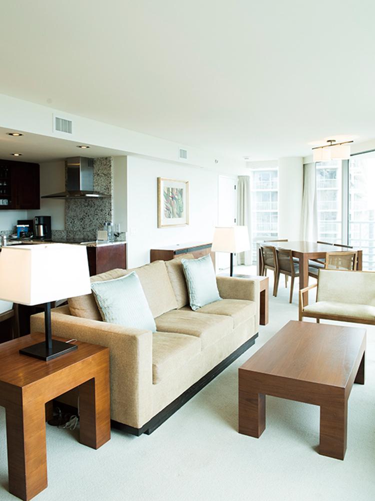 デラックス2ベッドルーム・プライム・オーシャンビュー・スイートの一例。