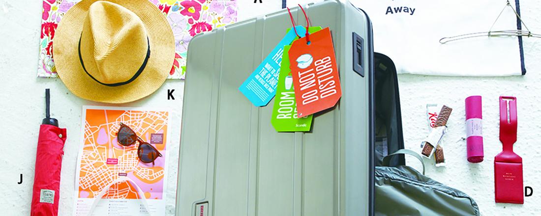 スーツケースの持ち物はこれさえあれば安心。ひとり旅でも楽しめる12品
