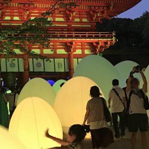 「今度はどの美術館へ?アートのいろは」チームラボが手掛ける〈下鴨神社〉糺の森の光の祭へ。