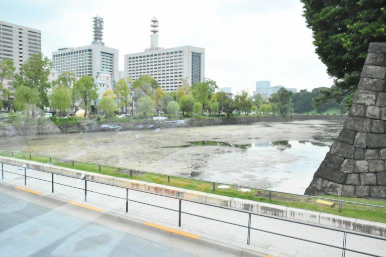 試乗コースは皇居内堀を周遊します。