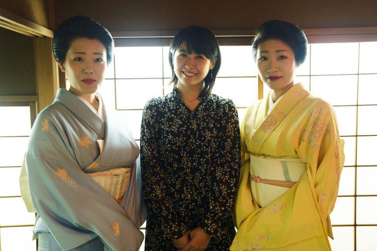 今回一緒にお稽古をした喜美緒さんと小夏さん。