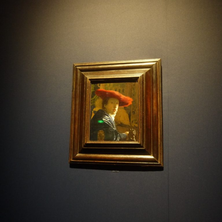 ヨハネス・フェルメール 「赤い帽子の娘」(1665-1666年頃)