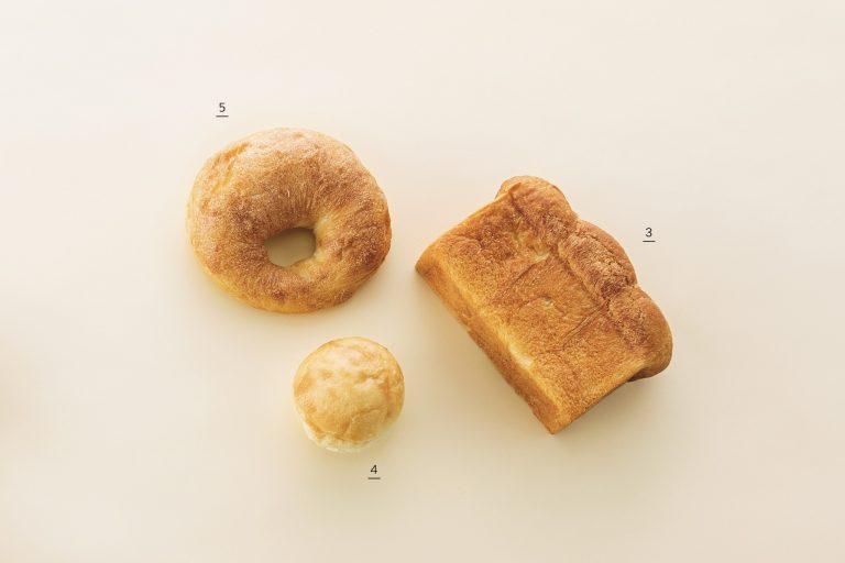 3.北海道×食パン420円、4. 前田さんのキタノカオリ200円、5.ソンプルサン240円