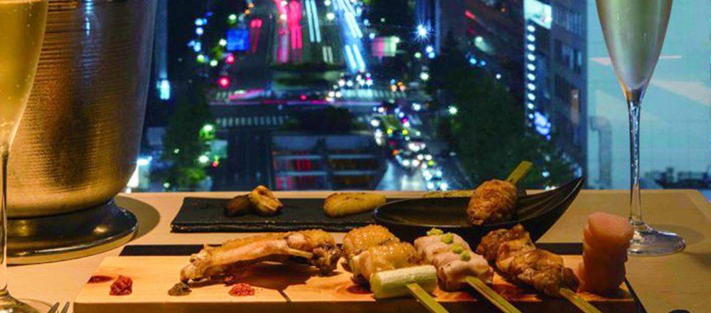 東京タワーを望む夜景×絶品比内地鶏!おしゃれな人気焼き鳥店〈銀座かしわ〉とは?