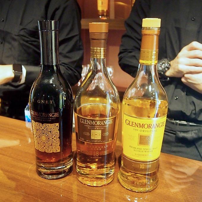 左から「グレンモーレンジィ シグネット」、「グレンモーレンジィ 18年」、「グレンモーレンジィ オリジナル」。