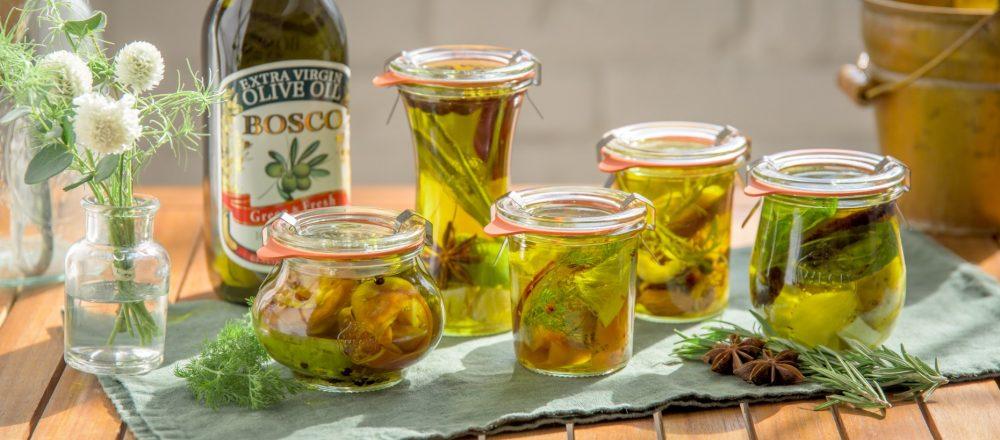 おうちで簡単に作れる「食べるハーバリウム」。食卓を彩るオリーブオイル活用レシピ5品