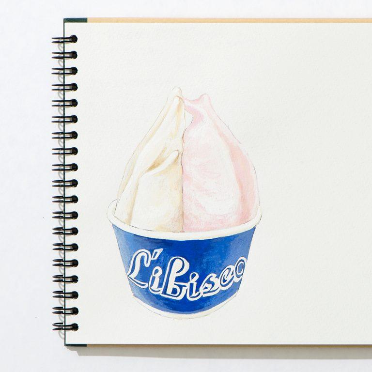 左「オブセ牛乳」、右「ダマスクローズ」650円