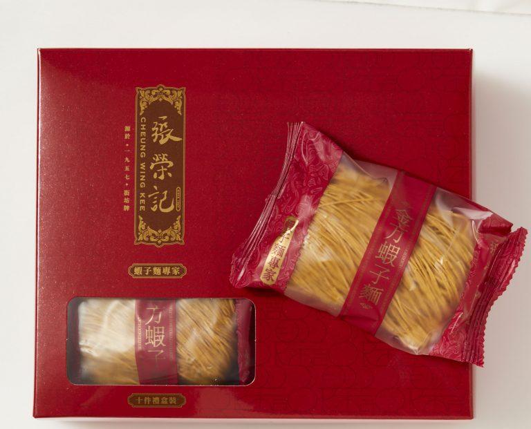 一度は味わいたい定番の味。「金方蝦子麵」10個入りHK$72