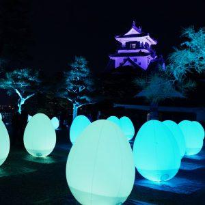 1/6まで開催『チームラボ 高知城 光の祭』。アート展でタイムトラベラーに!
