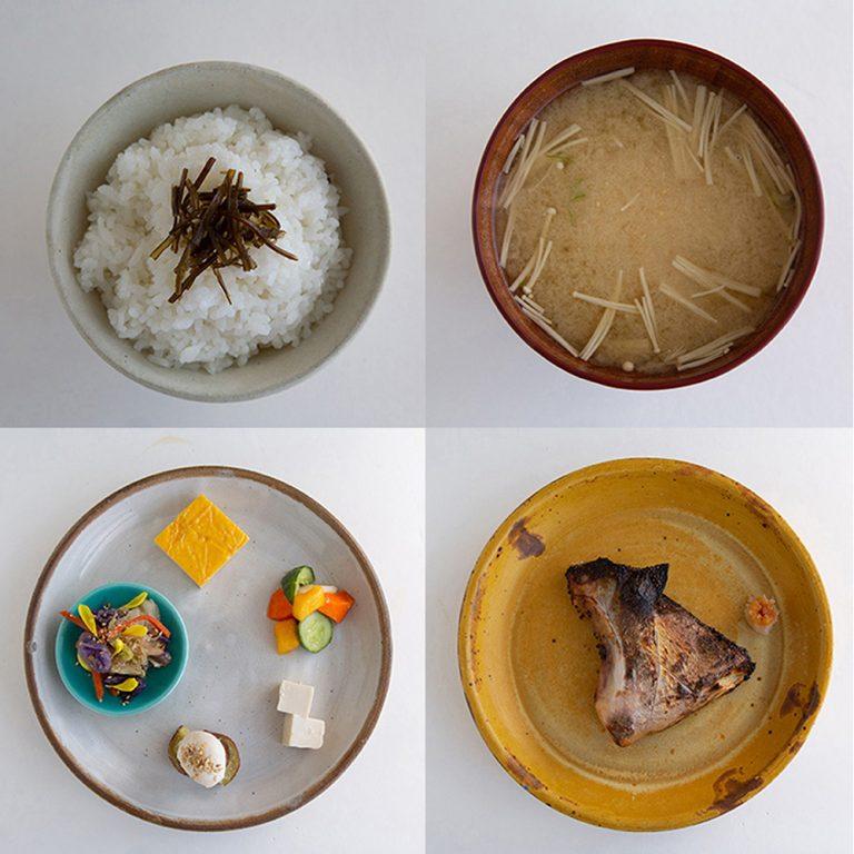 秋から登場の一汁五菜2,000円(税込)。カンパチの西京焼きなど魚はその時々で。ローズマリー風味などのアレンジもある。