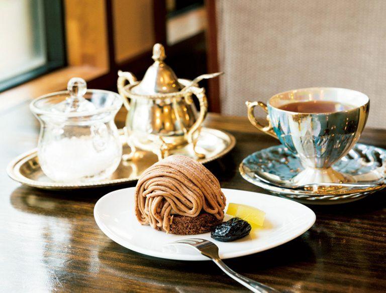 「モンブランと紅茶のセット」1,080円