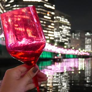 『目黒川 イルミネーションCHANDONクルーズ2018』素敵な夜景と「シャンドン ロゼ」で優雅なひと時。