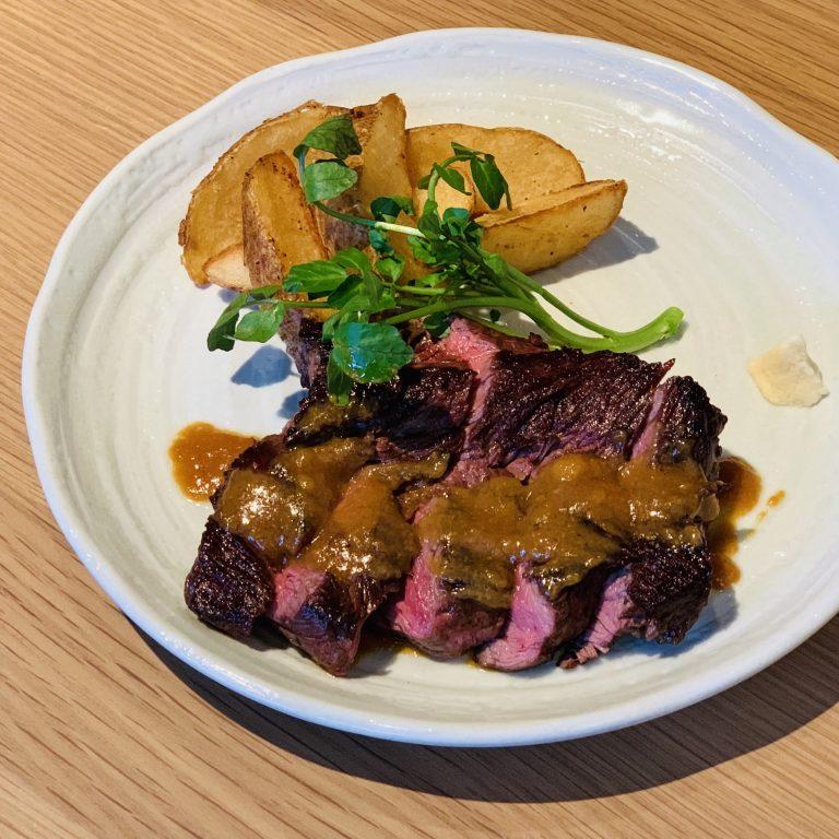 「濃厚味噌ソースで食べるハラミステーキ」1,380円