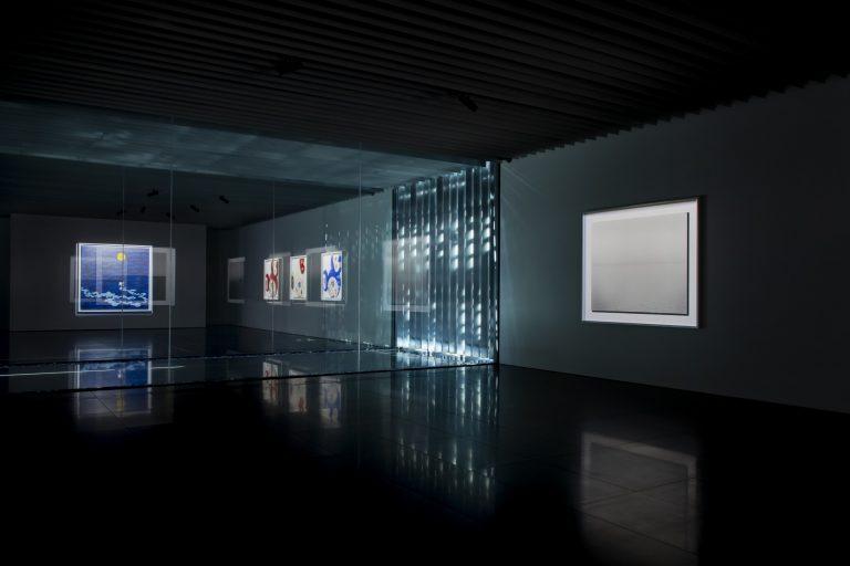 季節・天気・時間帯によって変化する展示空間が魅力。