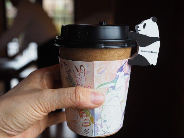 カップにつけられたパンダのメッセージカードも可愛い!