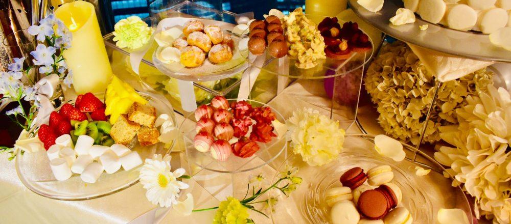 夜景が一望できるレストラン〈Fish Bank TOKYO〉から、春らしさ満開のチョコファウンテン&ワゴンデザートが登場!