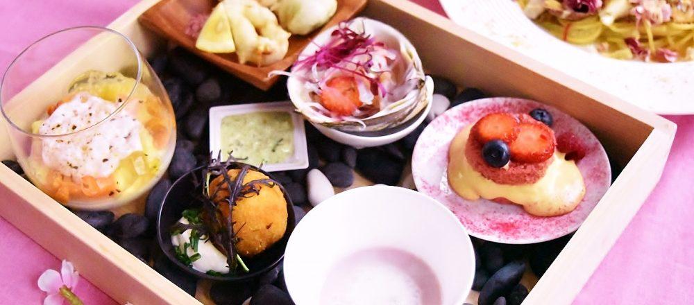 外苑いちょう並木でひと足早いお花見を!〈キハチ 青山本店〉で『桜テラス』開催。