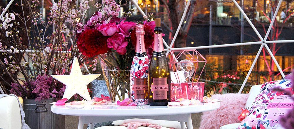 東京ミッドタウン〈CHANDON Blossom Lounge〉で、花々を愛でながら乾杯!