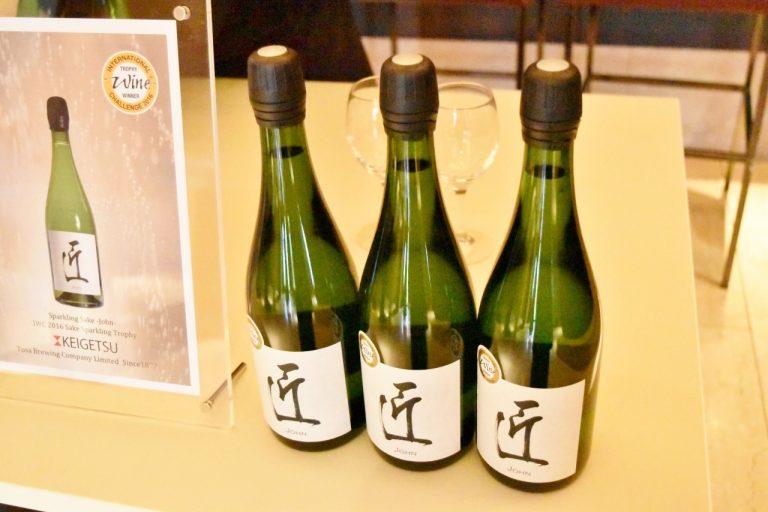スパークリング本酒「匠」の試飲も行われた。