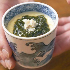 【京都・ふくのオイル漬 コンフ(プレーン)】のアレンジレシピ 「ふくのオイル漬コンフの茶碗むし」