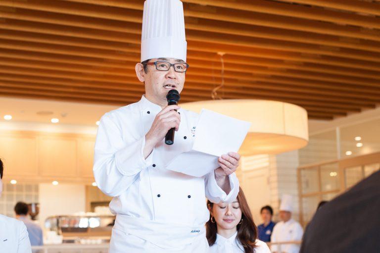 ANAケータリングサービス・総料理長の清水誠さん。