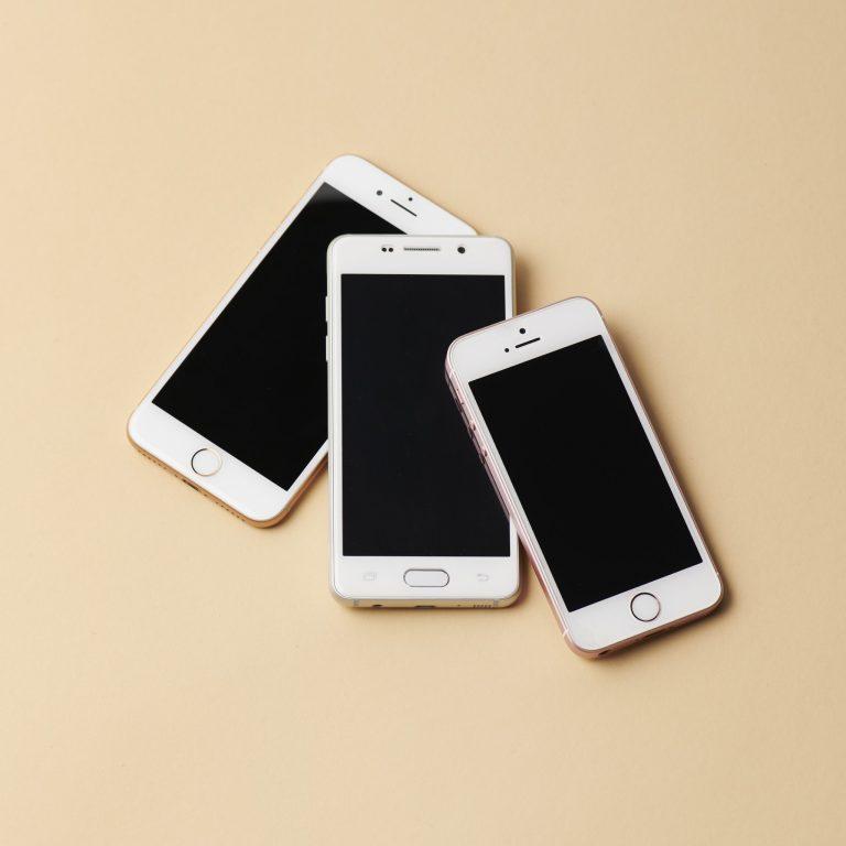 3台のスマートフォン